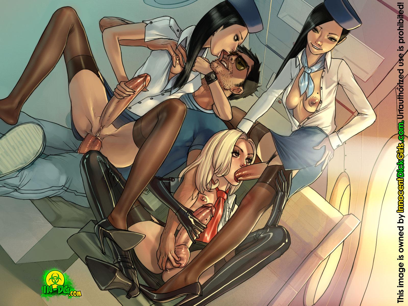 futa dickgirls orgy party